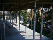 Widok z 3 piętra na centrum Radzymina oraz na budynek I etapu osiedla